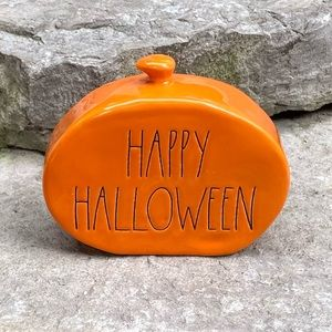 Rae Dunn HAPPY HALLOWEEN Mini Pumpkin